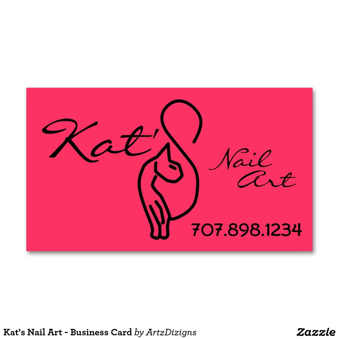 Kat\'s Nail Art - Business Card | Business Cards (order here) | Pinterest