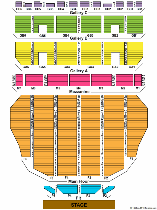 Fox Theatre Detroit Seating Chart With Seat Numbers Di 2020