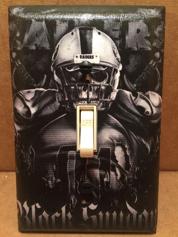 Oakland Raiders Light Switch Cover Handmade Sports