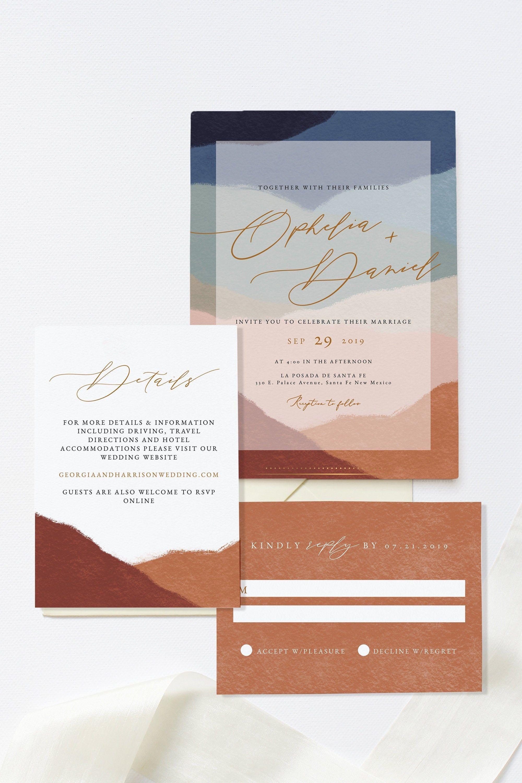 Ophelia Wedding Invite Set Southwestern Wedding Invitation Etsy Desert Wedding Invitation Wedding Cards Southwestern Wedding