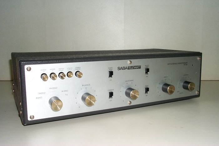Online veilinghuis Catawiki: Saba Telewatt VS-60 Stereo Buizenversterker - jaren 60