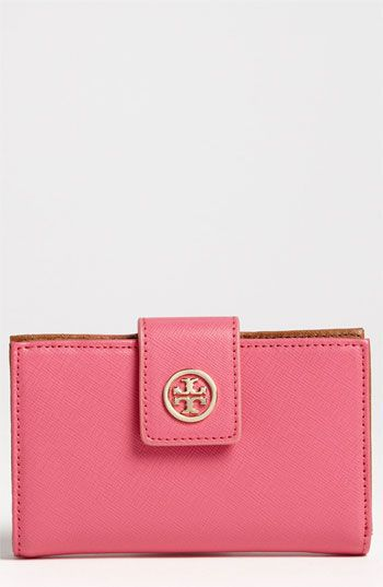 8d1b20eb037b Tory Burch  Robinson  Slim French Purse available at  Nordstrom Maybe a pop  of color would be fun  )
