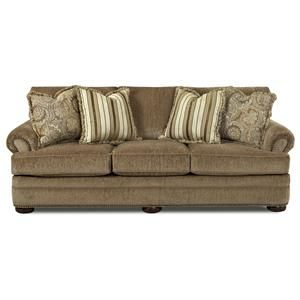 Tolbert Traditional Sofa With Rolled Arms And Nailhead
