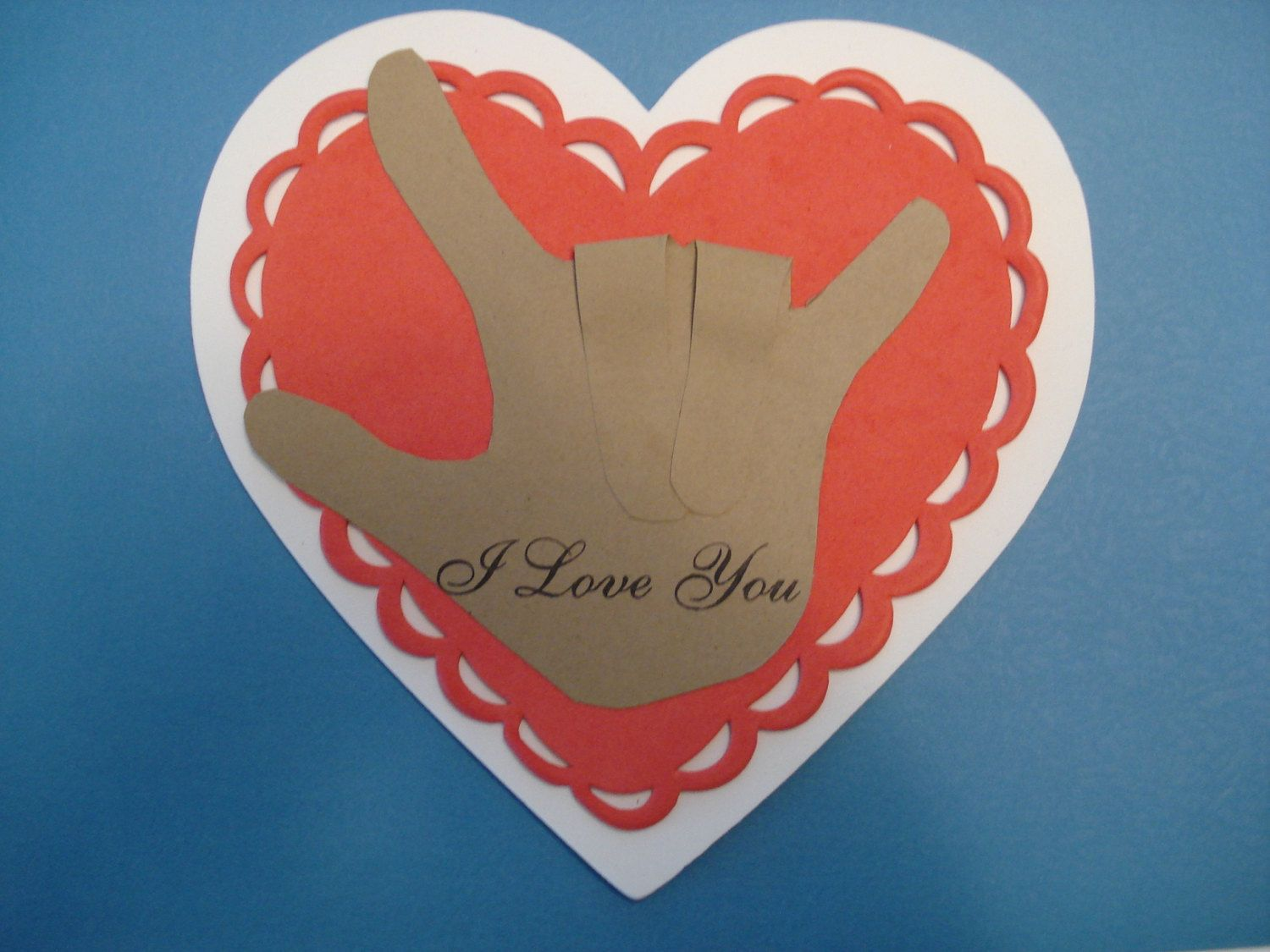 I Love You Sign Language Hand Classroom Party Craft Kit