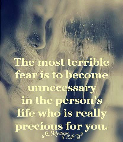 Is that why people push people away? Scared they will