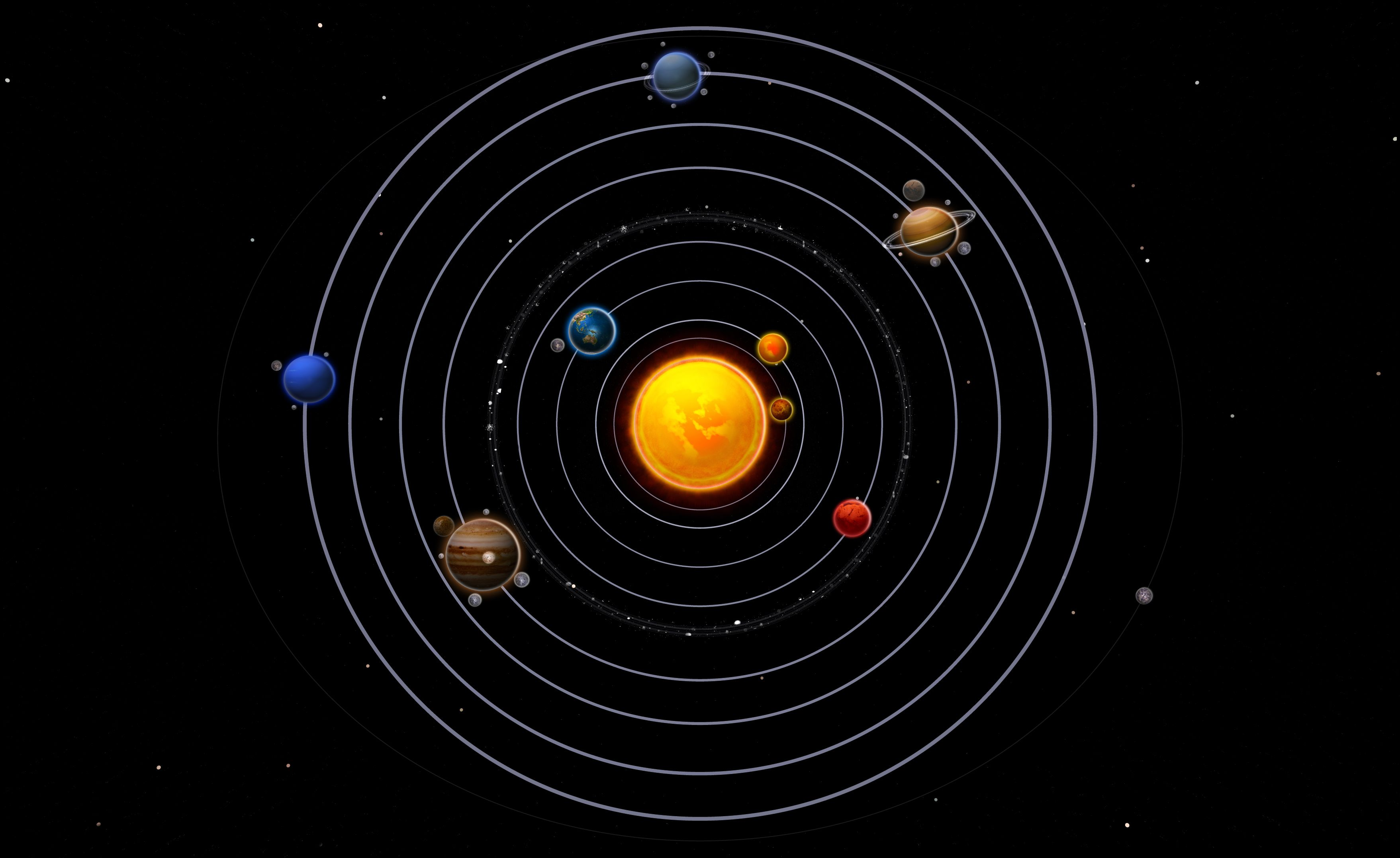 our order of planets with asteroid belt - photo #10