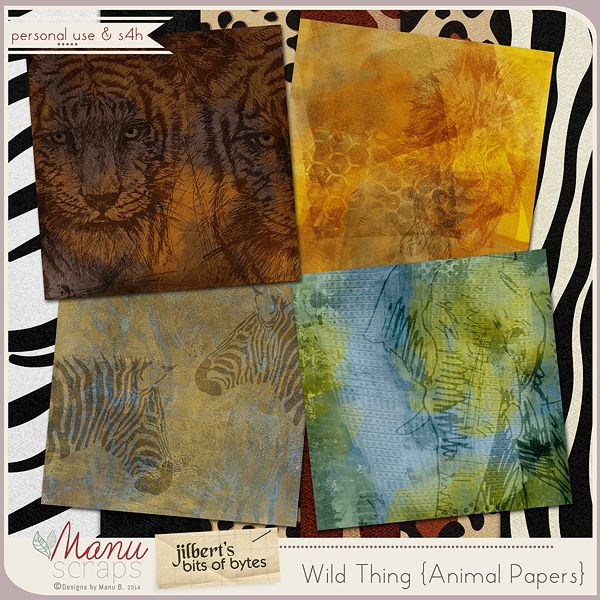 Wild Thing by #ManuScraps & #JilbertsBitsOfBytes Hippos and rhinos, big cats on the prowl, gather your coat; don't forget your sweat towel.  Its safari time, no room for fear!  Load up your boots, your cameras and gear.  #theStudio #digitalscrapbooking #studioroundrobin