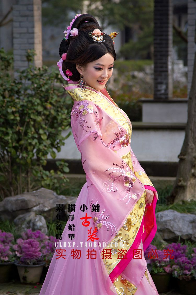 Aliexpress.com : Buy Costume tang suit hanfu pink paillette costume ...