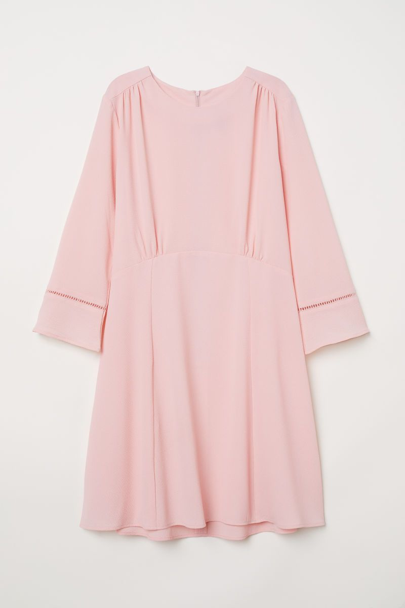 H&m pink pleated dress  Crêpe dress  Light pink  LADIES  HuM IL  shopping  Pinterest