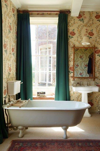 English Bathroom Design Impressive Mauny's Primevères Wallpaper  Bathroom Designs English And Wallpaper 2018