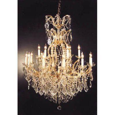 "Harrison Lane Maria Theresa 16 Light Crystal Chandelier Size: 44"" H x 37"" W"