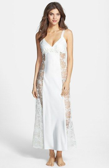 88731bf1f6e Flora Nikrooz  Moonshine  Charmeuse   Lace Long Nightgown available at   Nordstrom