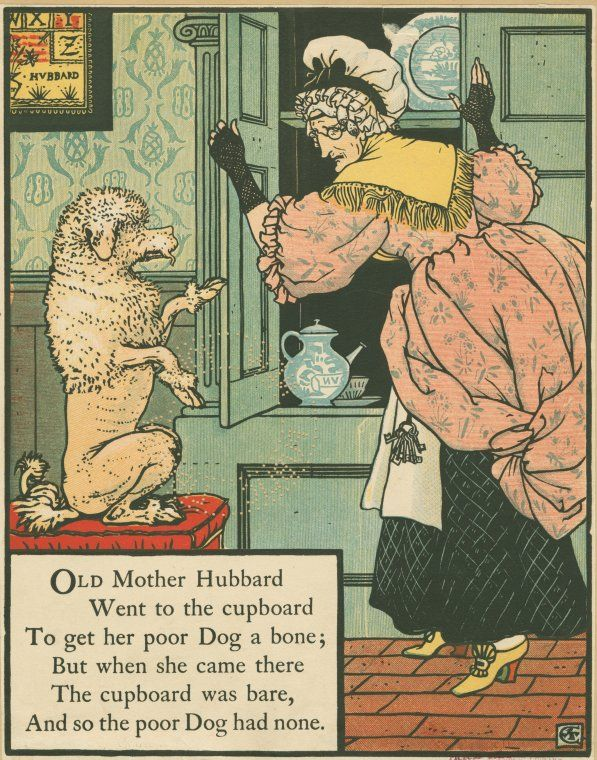 Nypl Digital Collections Old Mother Hubbard Walter Crane Picture Book