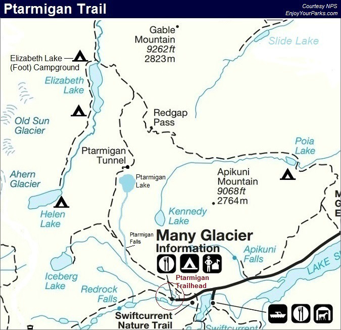 Ptarmigan Trail Map, Glacier National Park Map | Glacier ... on lagoon map, swamp map, volcano map, lake map, antarctica map, bering strait on world map, river map, dune map, last glacial maximum map, marsh map, iceberg map, coral reef map, hamilton map, united states tornado map, desert map, physical geography map, delta map, gulf map, mountain map, valley map,