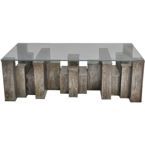 Andrew Martin Columbus Coffee Table (6.910 BRL) ❤ liked on Polyvore featuring home, furniture, tables, accent tables, coffee tables, decor, fillers, metallic, metallic furniture and andrew martin furniture