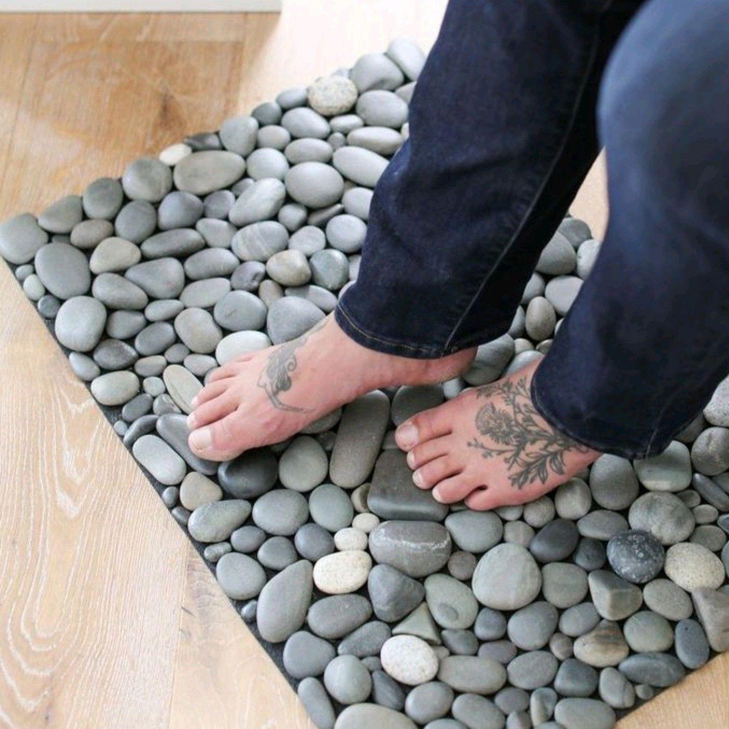 Maine Beach Stone Mat for Acupressure and Grounding