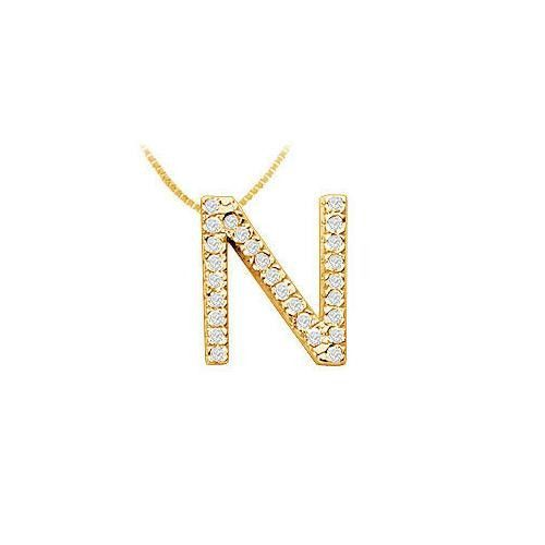 Classic n initial diamond pendant 14k yellow gold 045 ct classic n initial diamond pendant 14k yellow gold 045 ct diamonds products pinterest diamond pendant initials and products aloadofball Gallery