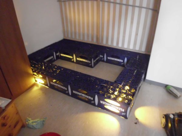 bierkasten bett lifestyle pinterest. Black Bedroom Furniture Sets. Home Design Ideas