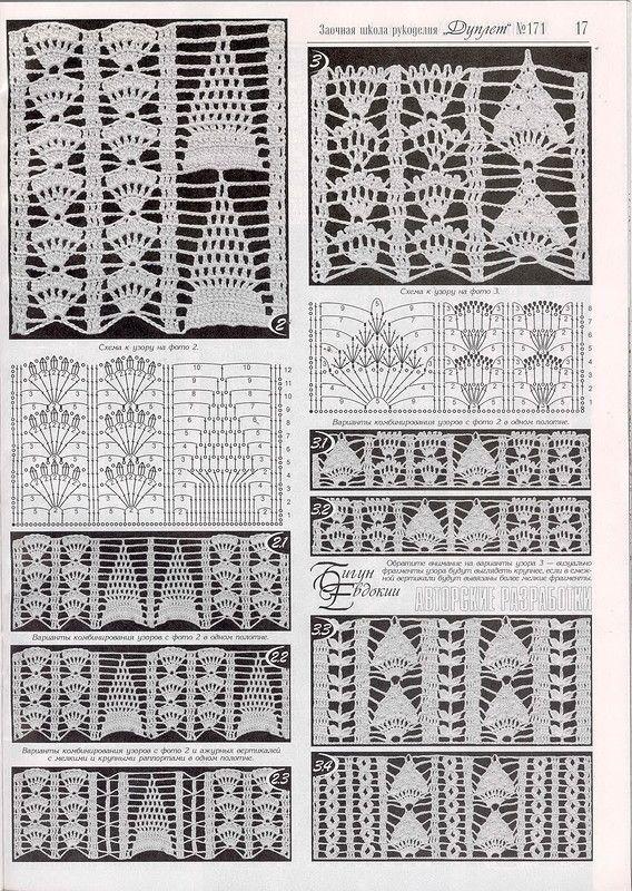 23.jpg | crochet lace stitches | Pinterest | Croché, Ganchillo and ...