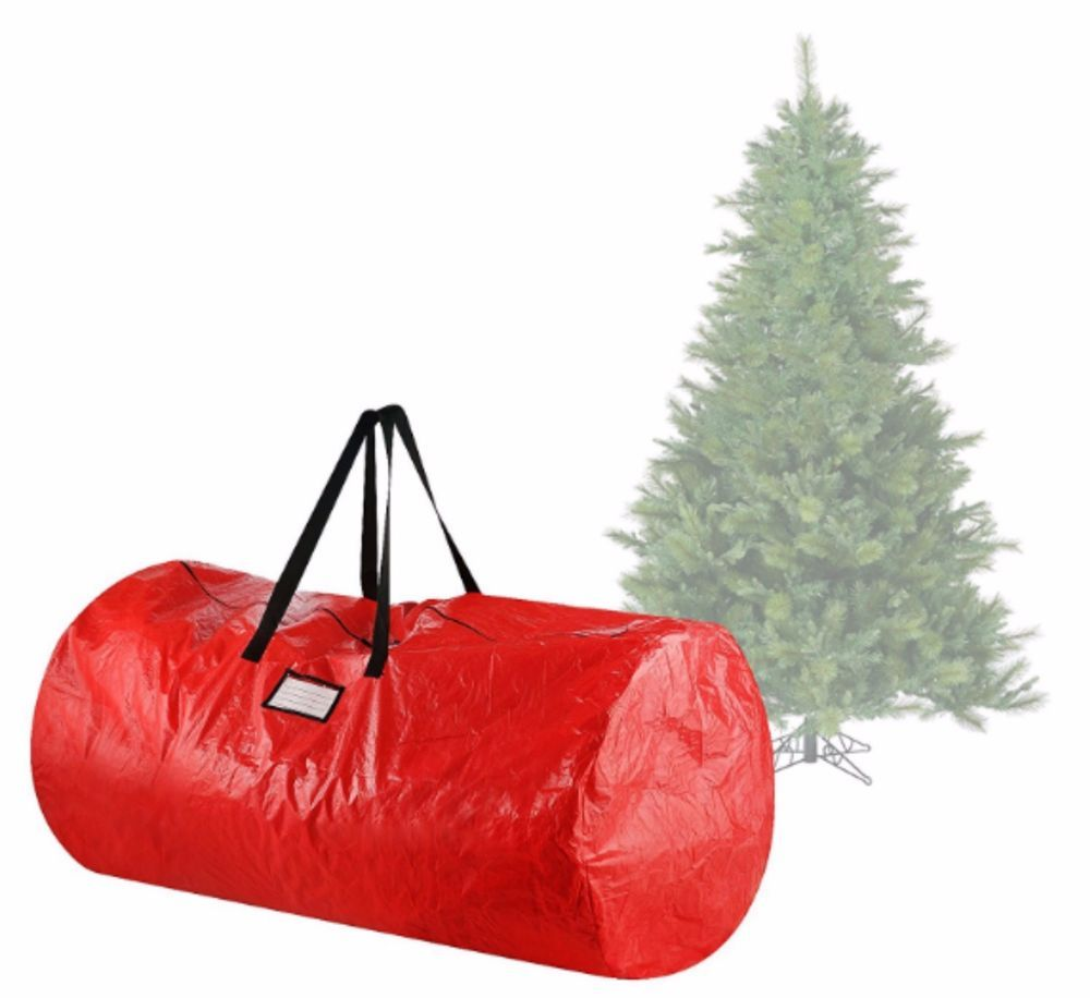 Artificial Tree Storage Box Bag Containers Round Red Bin For Christmas  Holiday #ElfStor