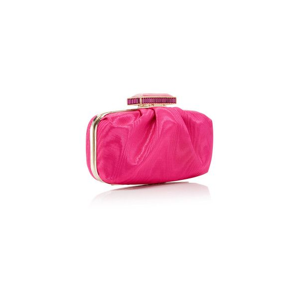 Oscar de la Renta Goa Clutch ($1,490) ❤ liked on Polyvore featuring bags, handbags, clutches, pink handbags, chain handle handbags, pink clutches, chain strap handbag and pink purse