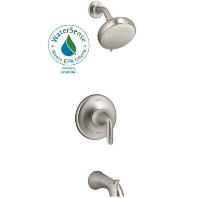 Kohler Willamette Single Handle 3 Spray Tub And Shower Faucet In Vibrant Brushed Nickel Valve Included K R99903 4 Bn The Home Depot Tub And Shower Faucets Shower Tub Faucet