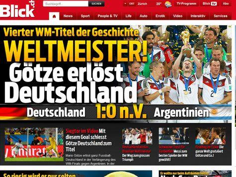 Pressestimmen Zum Wm Finale 2014 Deutschland Argentinien