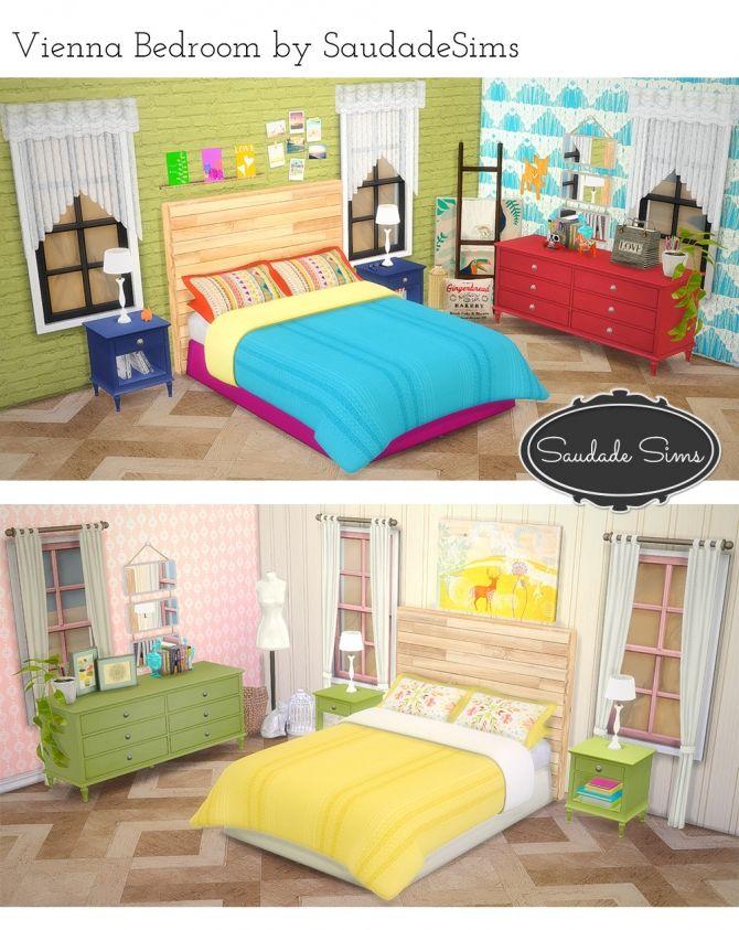 Vienna Bedroom at Saudade Sims via Sims