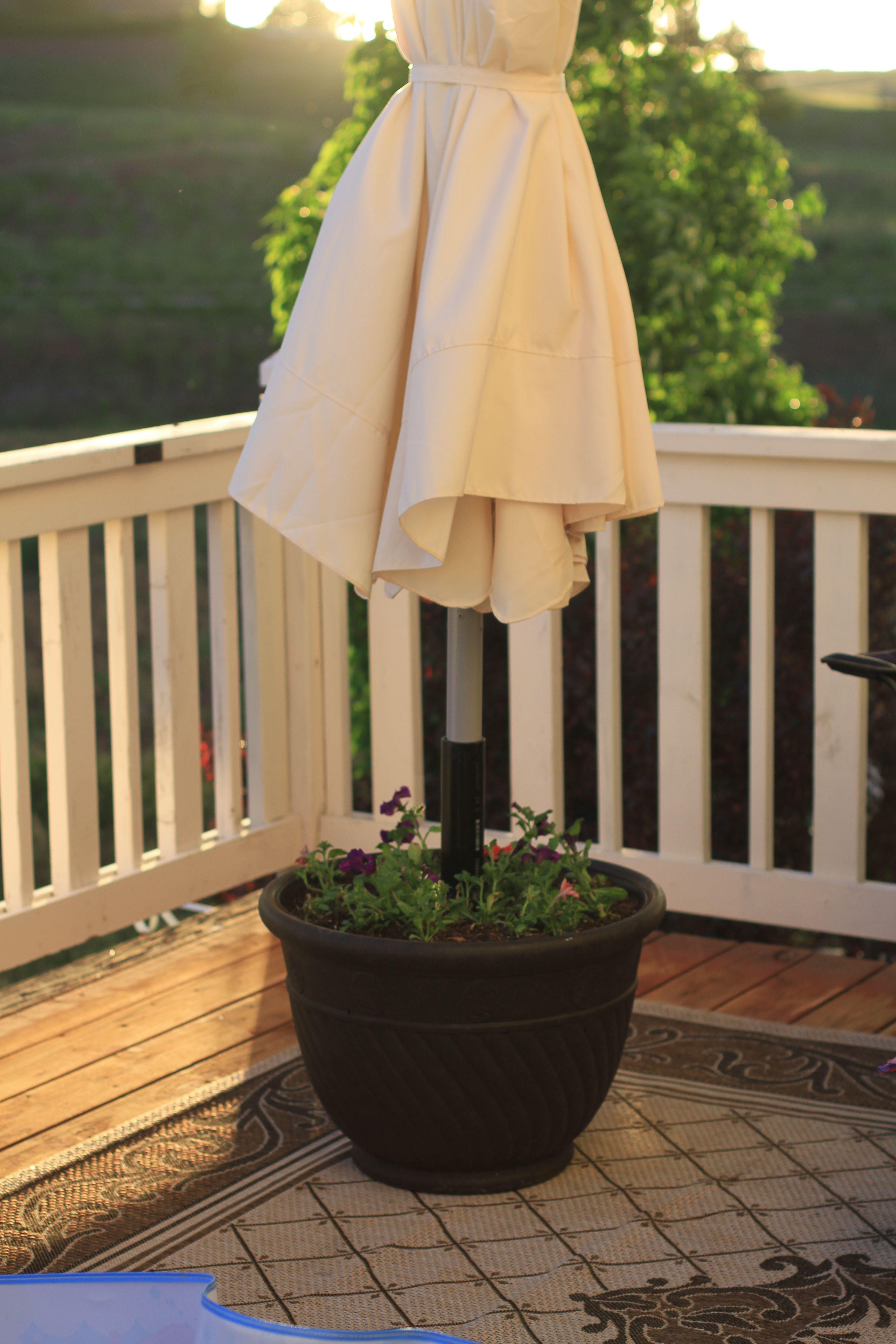 DIY Planter Umbrella Stand