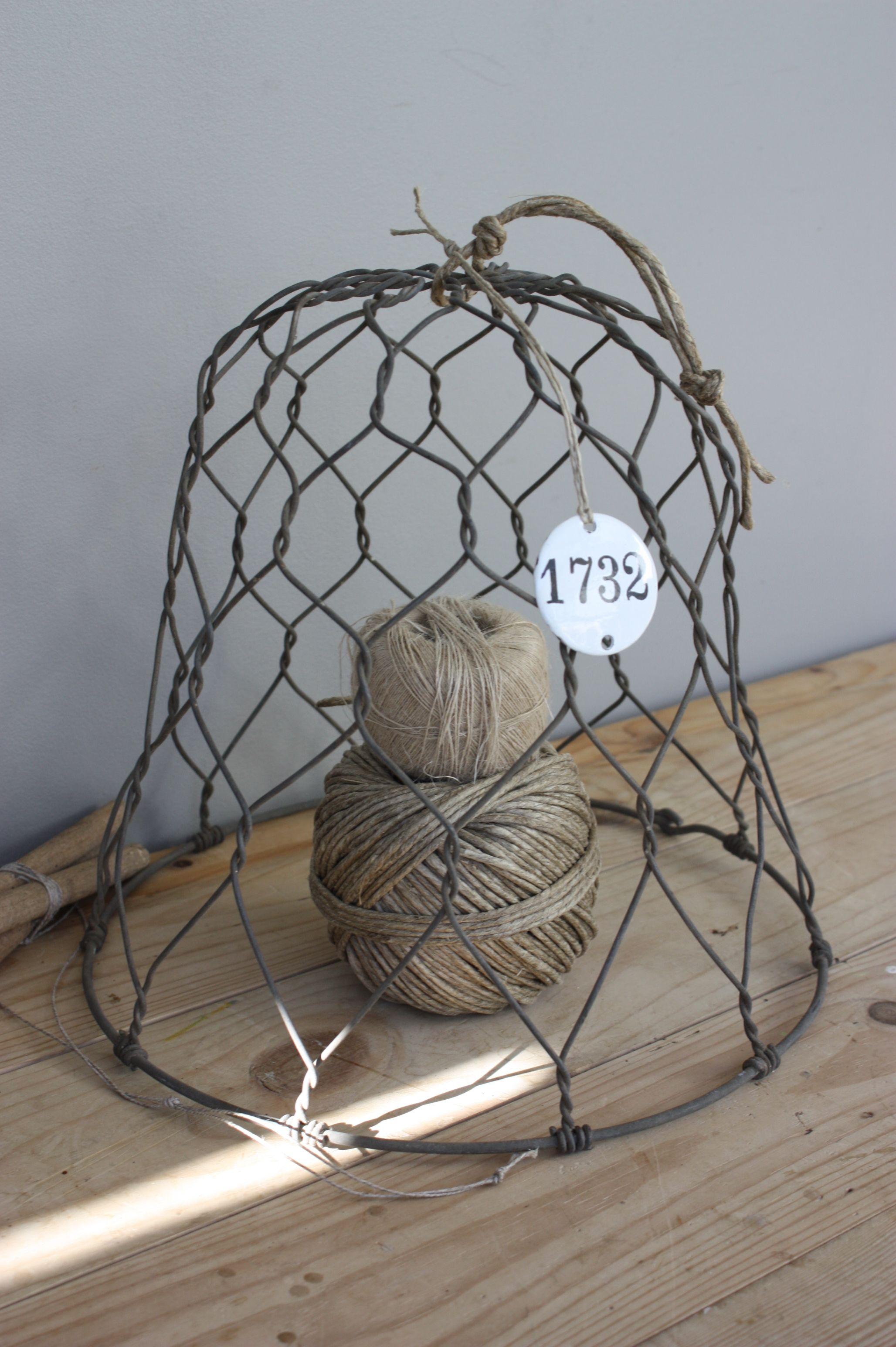twine under wire cloche | cloche | Pinterest | Twine, Chicken wire ...