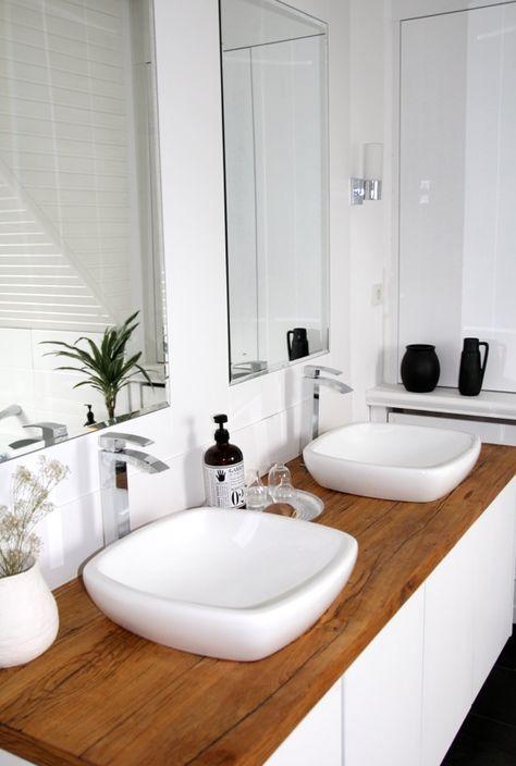 Badezimmer selbst renovieren: vorher/nachher   Skandinavischer stil ...