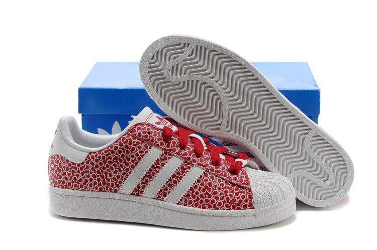 Cheap Adidas Originals Superstar Womens Trainer Graffiti Red White