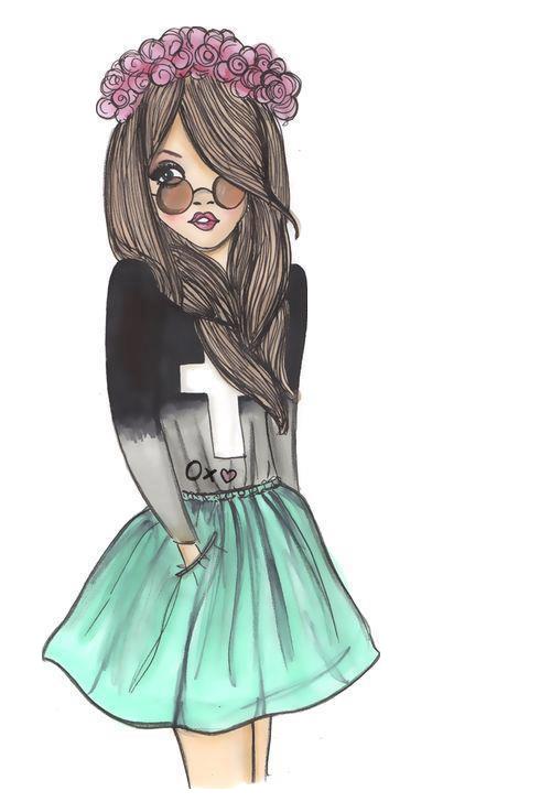 Cute Girl Hipster Art In 2019 Drawings Kristina Webb Tumblr