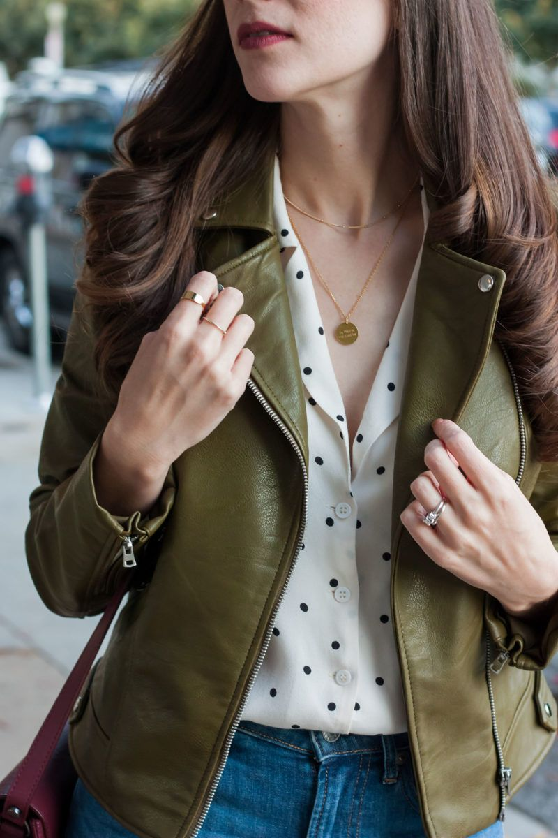 Olive Leather Jacket And Burgundy Leather Bag Jeans And A Teacup Olive Green Jacket Outfits Green Leather Jacket Outfit Olive Green Leather Jacket [ 1200 x 800 Pixel ]