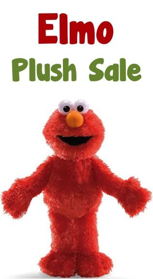 "Sesame Street Elmo 13"" Plush Sale: $8.99!"