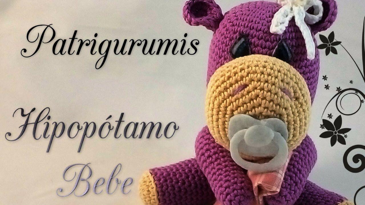 DIY Hipopótamo bebe amigurumi en ganchillo- Crochet   AMIGURUMIS ...