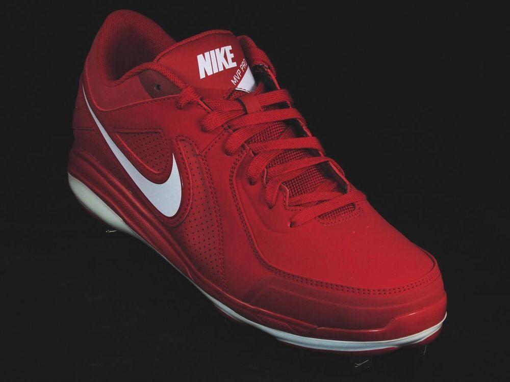 New Mens Nike Air MVP Pro Low Metal Baseball Cleats Black//White Sz 15 M Re $90