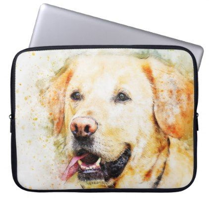#Artistic Puppy Design Laptop Sleeve - #labrador #retriever #puppy #labradors #dog #dogs #pet #pets
