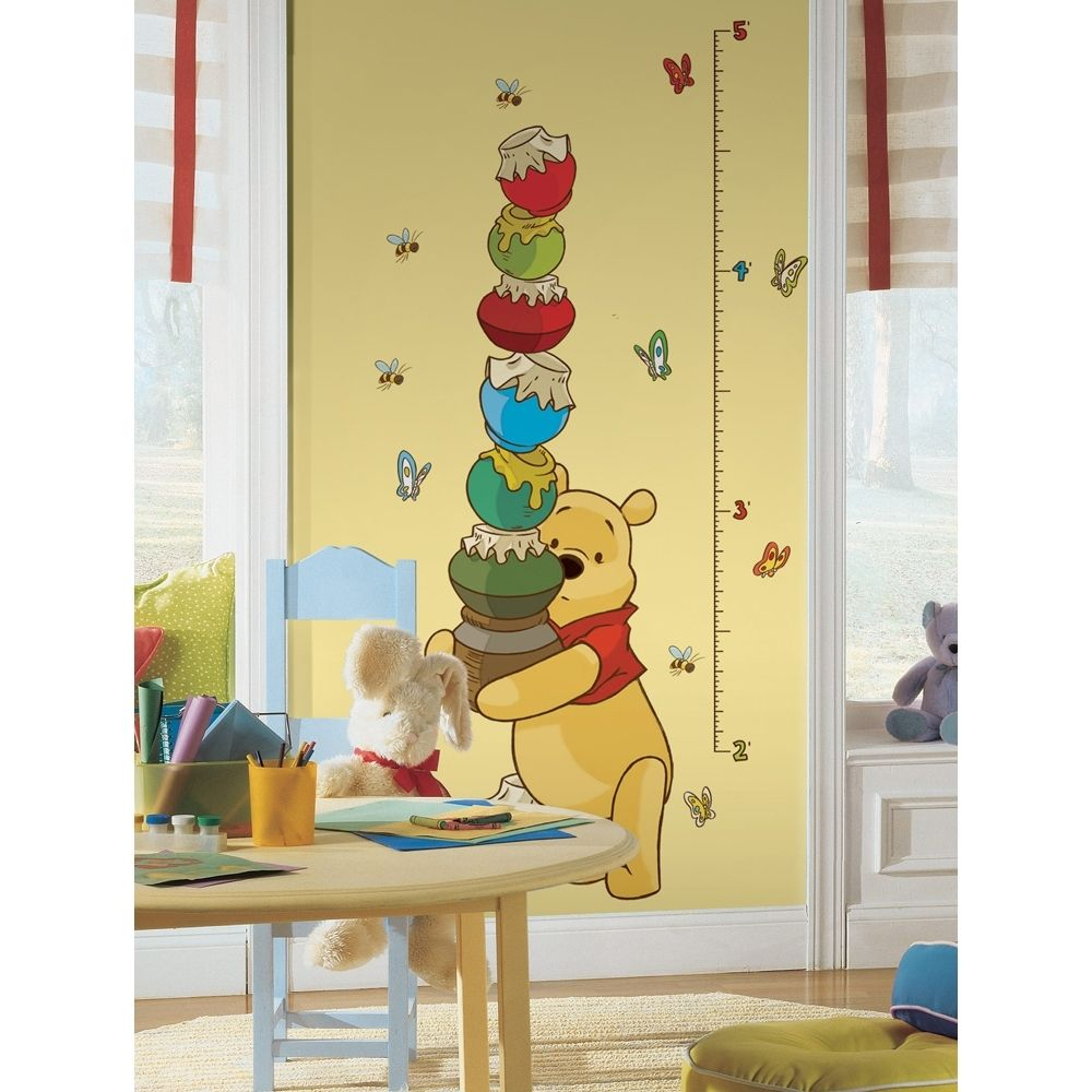 Winnie the Pooh Growth Chart Peel & Stick Wall Decal Art - Overstock ...
