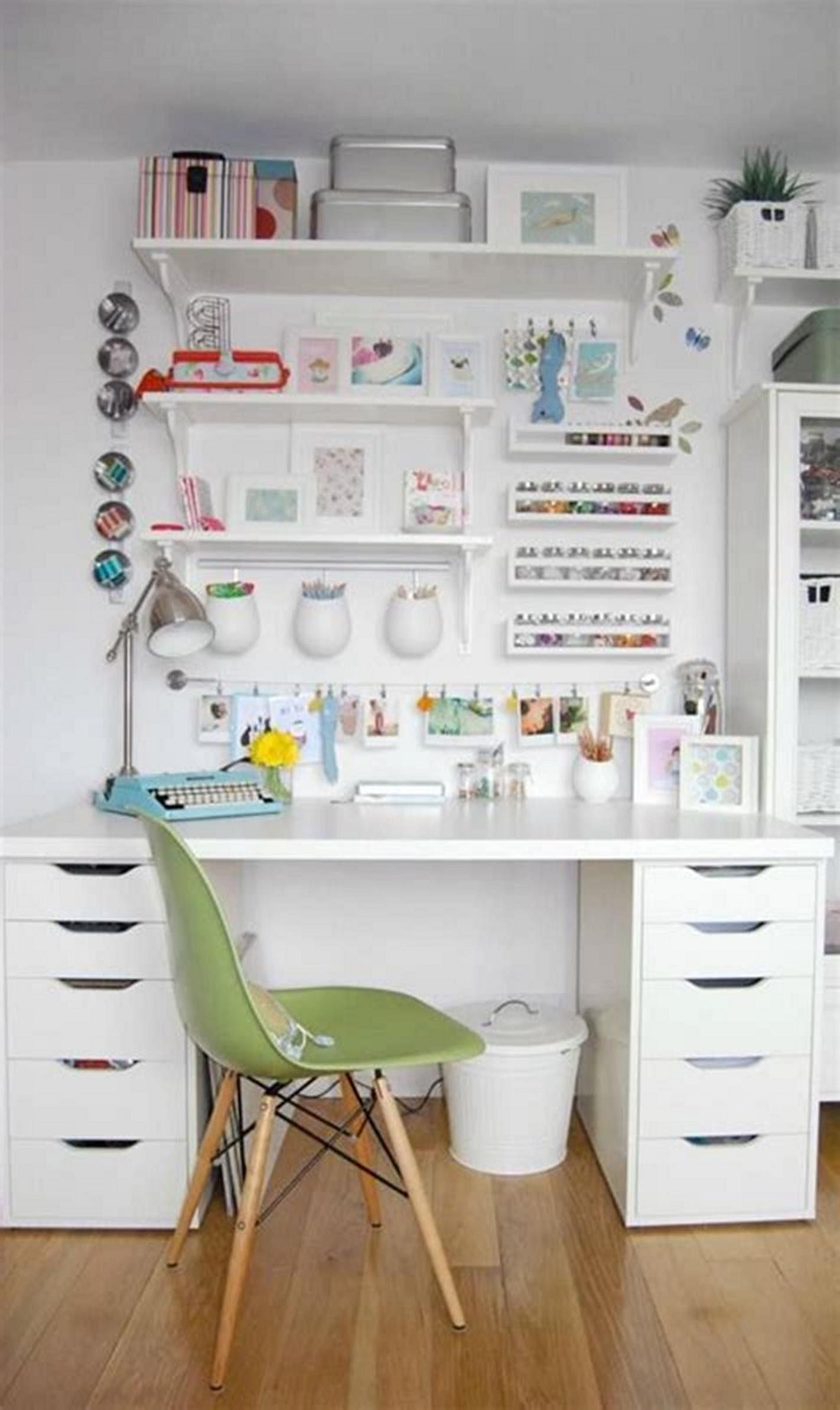 15 Wonderful Ikea Craft Room Table Design With Storage And