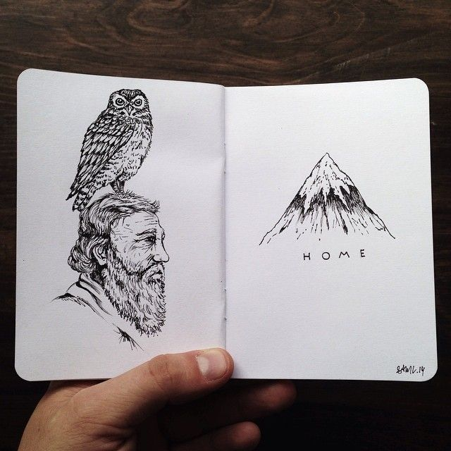 Love me some SAM - 21 Awesome Outdoor Drawings By Sam Larson - 50 Campfires