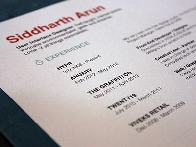 We love the use of color in this #resume Would you deviate from - making your resume stand out