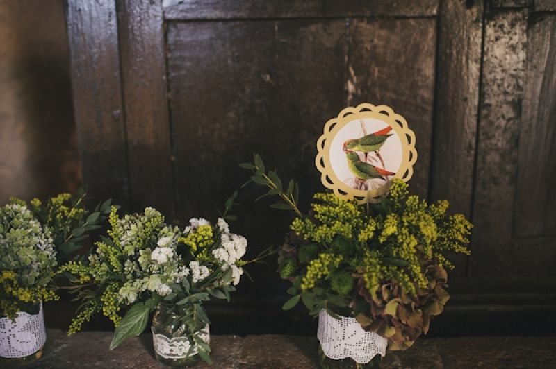 rustic floral decor for Italian destination wedding, photo by This Modern Love
