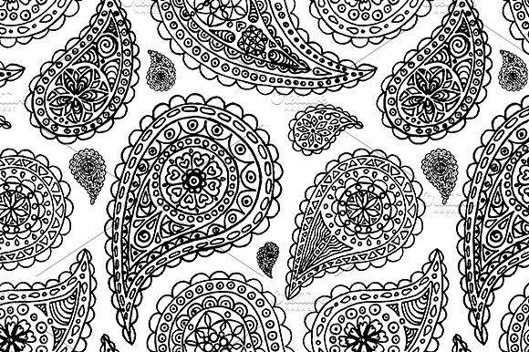Paisley buta seamless pattern vector by art by silmairel on creativemarket