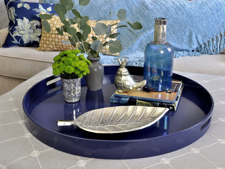 Navy Dining Table Decor Centerpiece Round Dining Table Decor