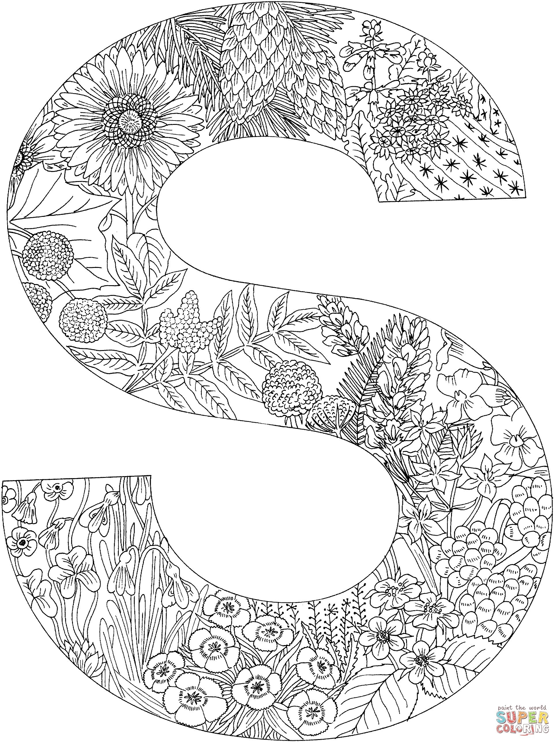 coloring page letters - Google Search | Alphabet coloring ...