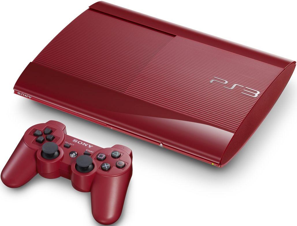Sony Playstation 3 Super Slim 12gb Kirmizi Oyun Konsolu Ithalatci Garantili Bakalirsin Com Red Blue Playstation 3 Super Slim
