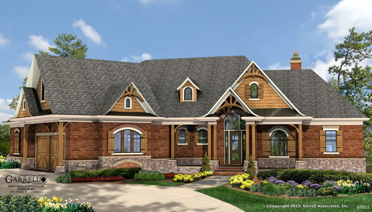 house designs cottage style. Garrell Associates  Inc Lake Breeze Cottage House Plan Front Elevation Craftsman Style Plans Mountain Design by Michael W 07011
