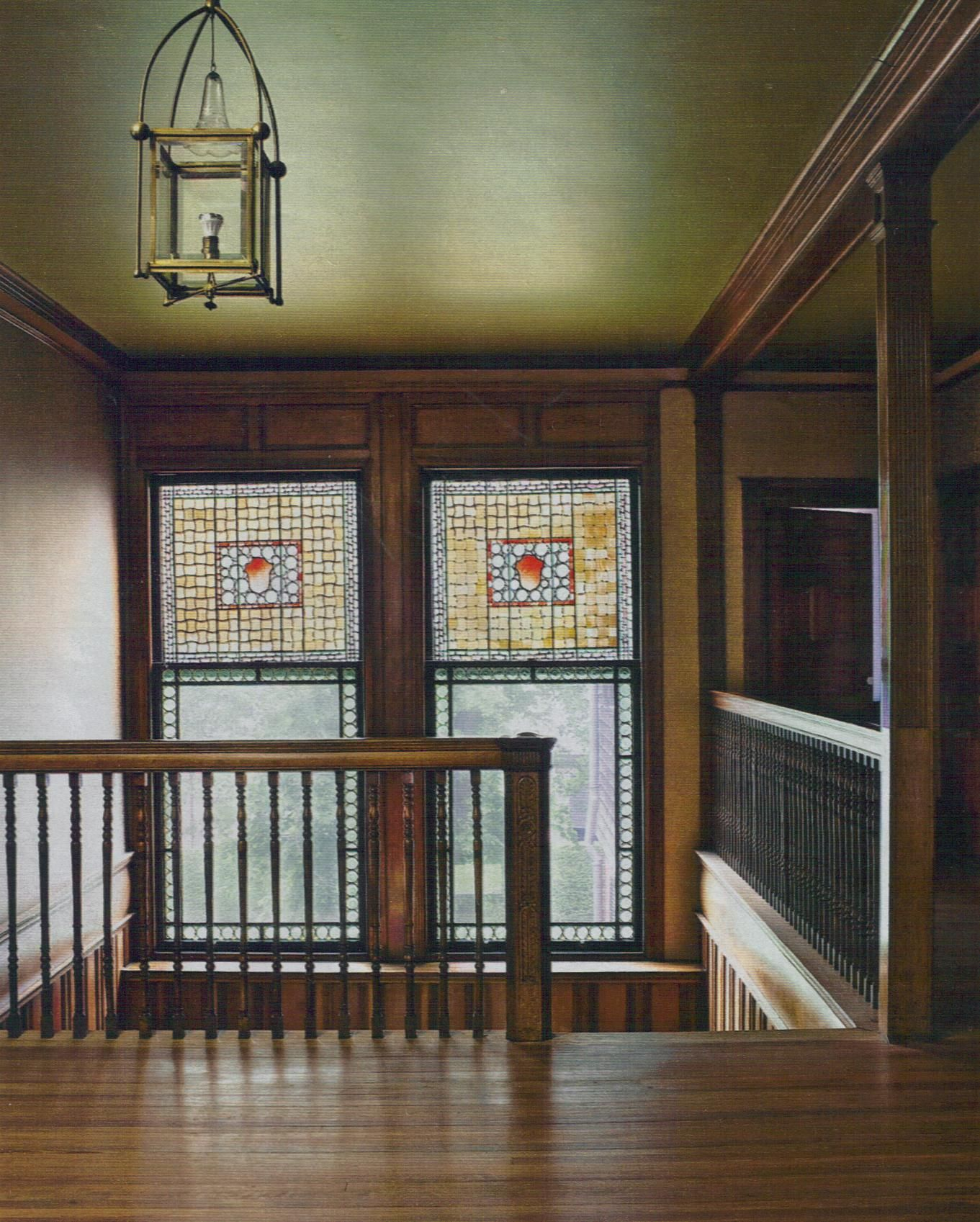 Stained Glass Window Staircase American Craftsman