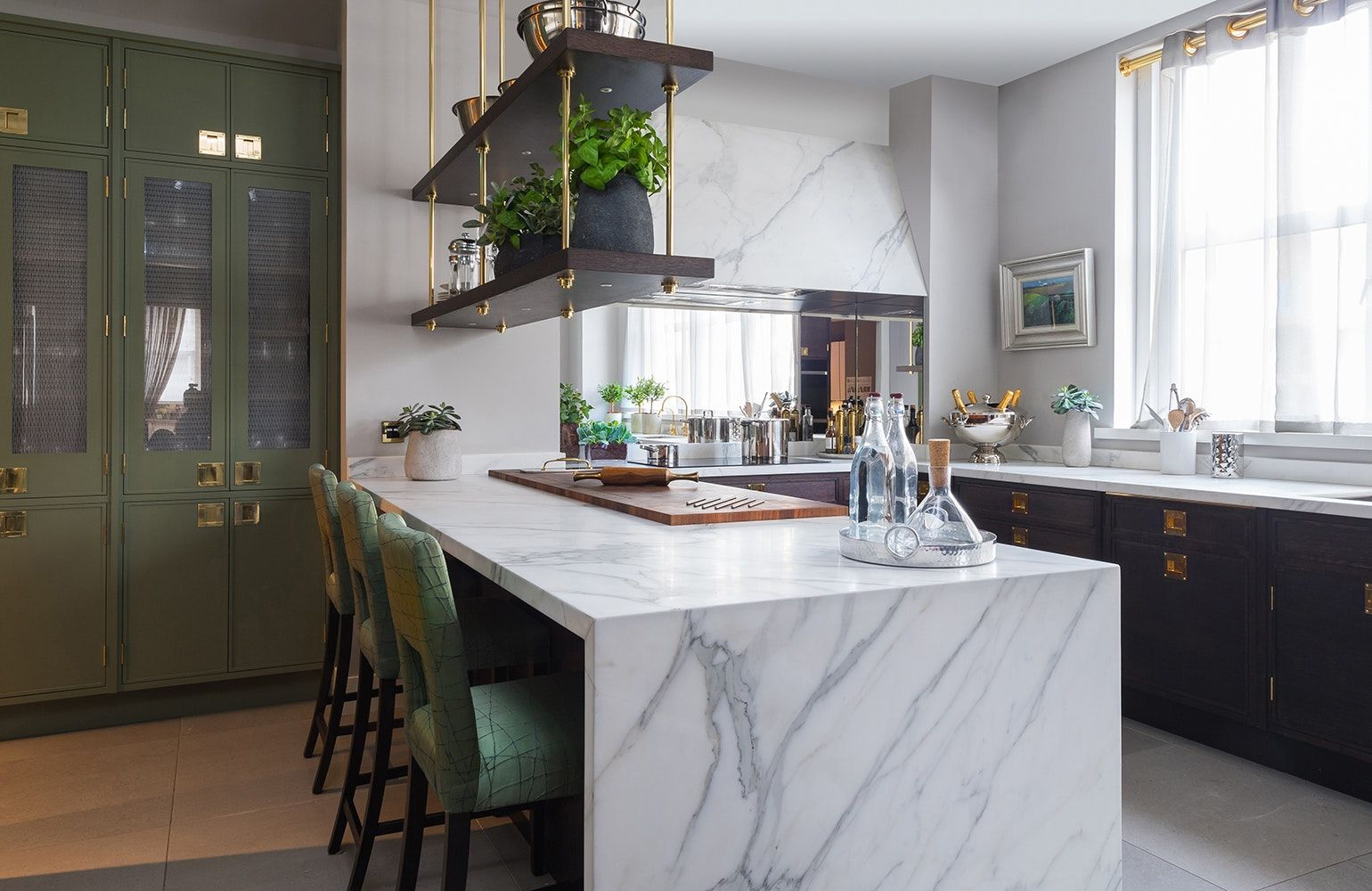 30 Beautiful Kitchens With Waterfall Islands Chairish Blog
